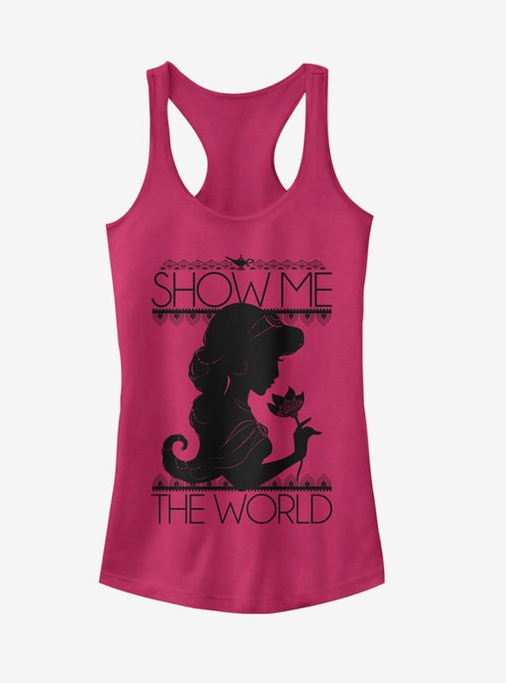 Aladdin Jasmine Show Me The World Girls Tank Top DV01