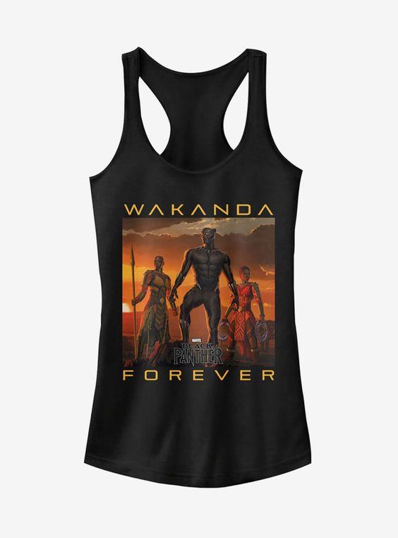 Black Panther Wakanda Forever Girls Tank Top DV01