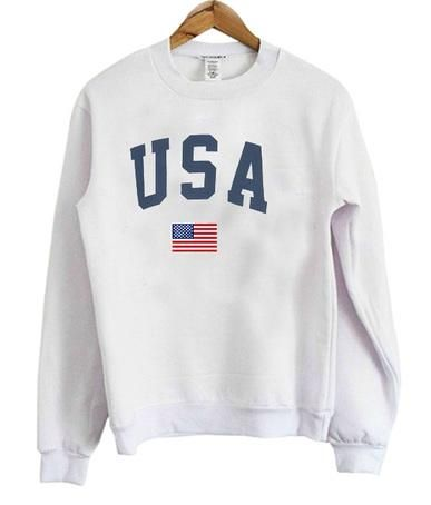 USA flag Sweatshirt DV01