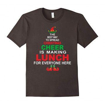 Funny Lunch Christmas T Shirt SR01