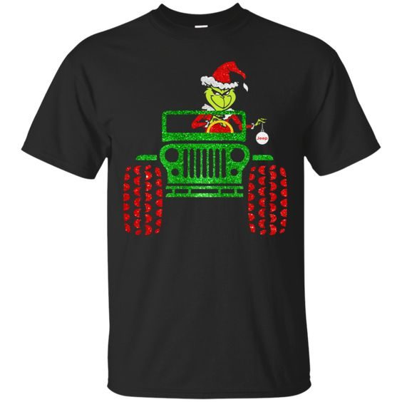 Grinch Jeep Christmas T-Shirt SR01
