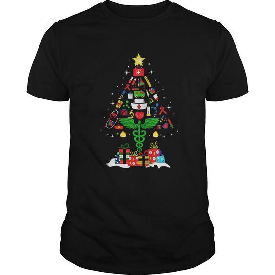Nurse Christmas tree T Shirt SR01