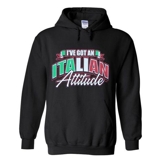 Italian Attitude Hoodie VL27N
