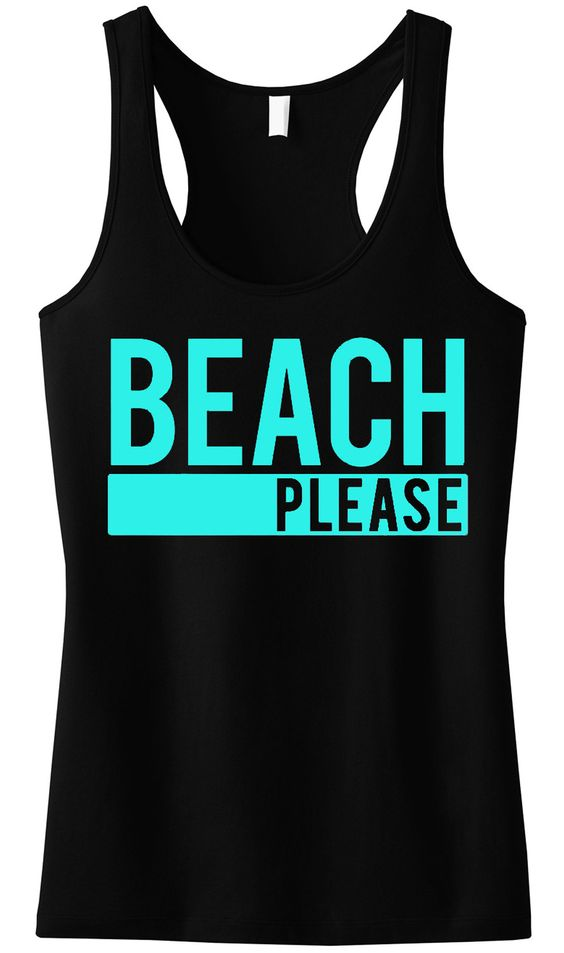 BEACH PLEASE Tank Top SR12J0