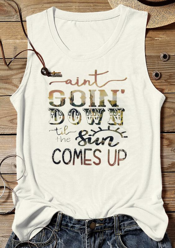 Ain't going Tank Top SR26F0