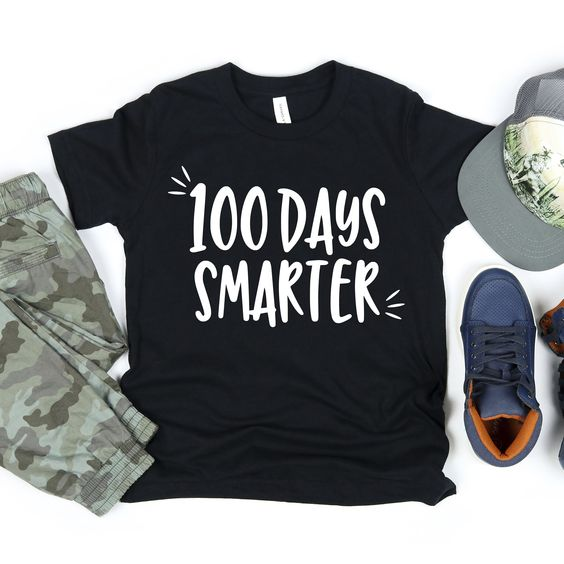 100 Day Smarter T Shirt RL21M0