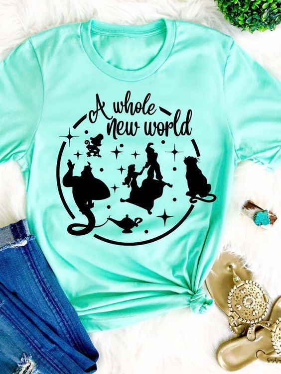 A whole new world is fun T-shirt RF12M0