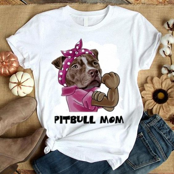 Pitbull mom T-Shirt AL29JL0