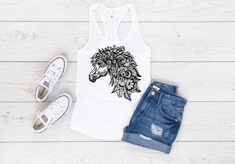 Beautiful Artistic Horse Tanktop AL4S0