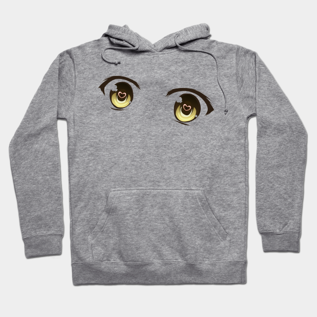 Brown Anime Eyes Hoodie EL9N0