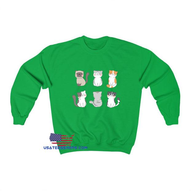 Cute Potter Cats Emote Sweatshirt SA23JN1