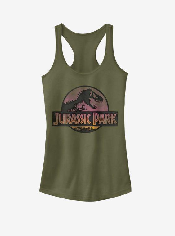 Universal Jurassic Park Safari Logo Girls Tanktop UL26F1