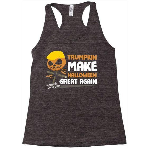 Trumpkin Make Halloween Tanktop SD28A1