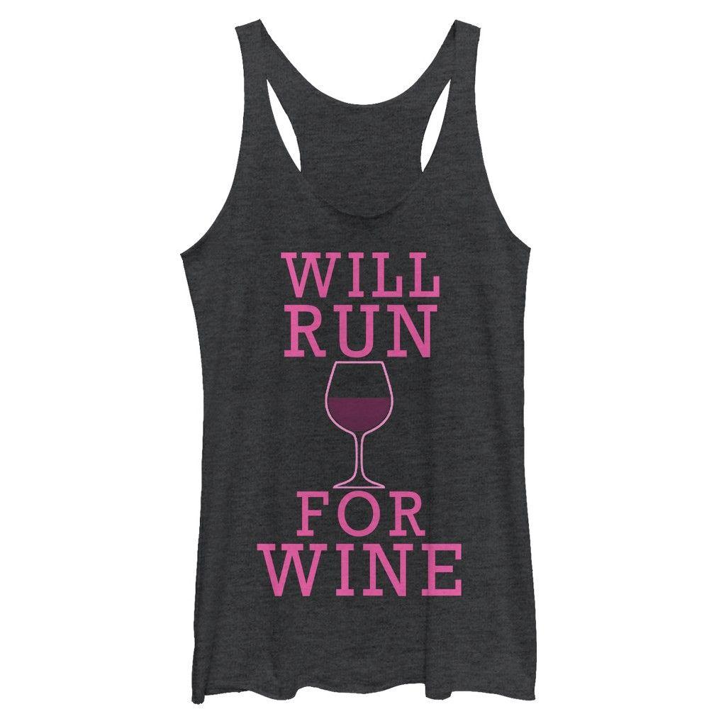 Will Run For Wine Tanktop AL21M1